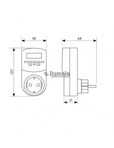 TEMPORIZADOR PROGRAMADOR DIGITAL 24 HORAS 230V