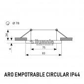 Dimensiones Aro de empotrar circular IP44