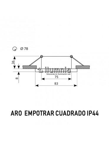 Aro de empotrar cuadrado IP44