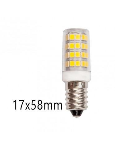 Bombilla LED TUBULAR 5W E14 Cristal 360° dimensiones