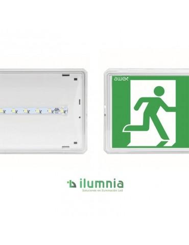 LUMINARIA LED DE EMERGENCIA Y EVACUACIÓN EXIT s 70 Lm