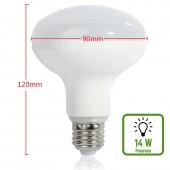 LED Reflectora R90 14W E27 230V HTPC+Aluminio