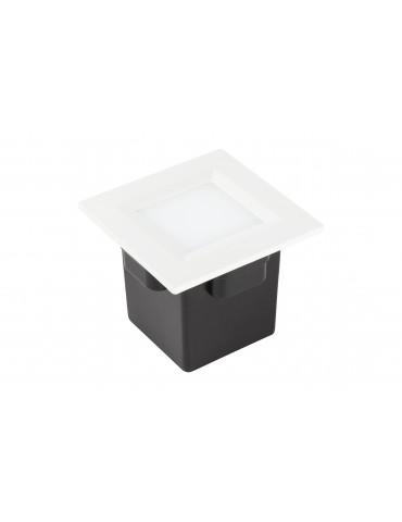 Aplique Pared LED 2W Cuadrado Clara 85 empotrar blanco
