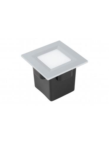 Aplique Pared LED 2W Cuadrado Clara 85 empotrar gris claro