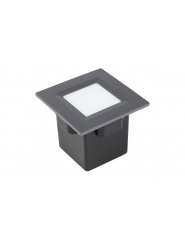 Aplique Pared LED 2W Cuadrado Clara 85 empotrar gris