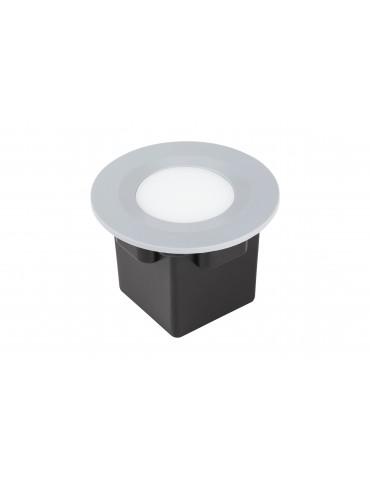 Aplique Pared LED 2W Circular Clara 97 empotrar gris claro