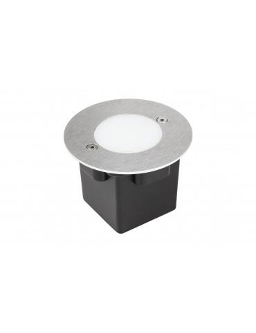 Aplique Pared LED 2W Circular Clara 97 empotrar inox