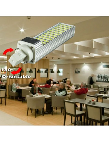 LED PL G24 10 W 230V Orientable Aluminio foto