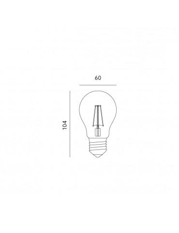 LED VINTAGE RETRO Estándar A60 8W E27 CRISTAL dimensiones