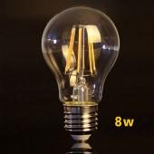 LED VINTAGE RETRO Estándar A60 8W E27 CRISTAL FOTO