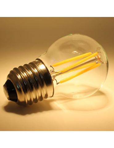 LED VINTAGE Esférica G45 4W E27 CRISTAL detalle