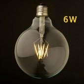 LED VINTAGE GLOBO G125 6W E27 230V CRISTAL 360°