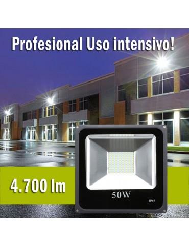 Foco Proyector LED 50W 4500lm SMD 120º SLIM