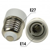 Adaptador cerámico E27-E14 230V