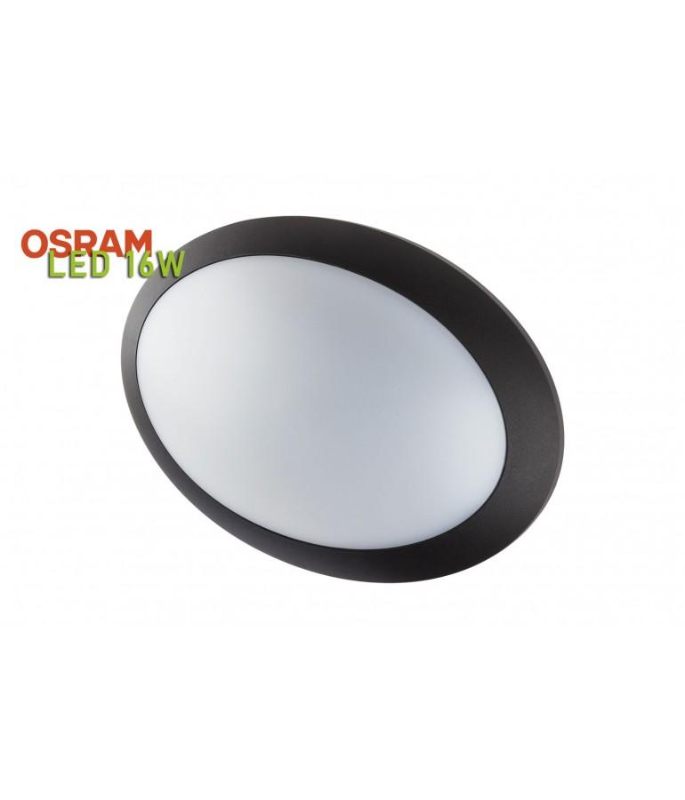 Plafón Sofía LED Oval 16 Negro