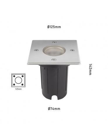 Foco Proyector LED de suelo Cuadrado Gil 120 dimensiones