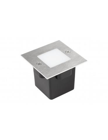 Aplique Pared LED 2W Cuadrado Clara 85 empotrar inox