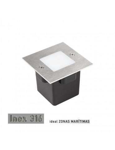 Aplique Pared LED 2W Cuadrado Clara 85 empotrar