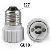 Adaptador cerámico E27-GU10 230V