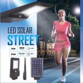 Luminaria solar LED 15W sensor movimiento