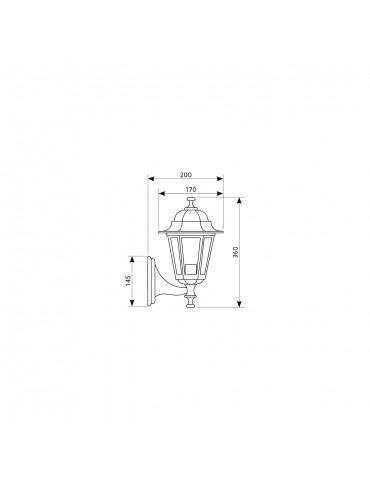 Farola de Jardín vertical pared boca arriba LO4101
