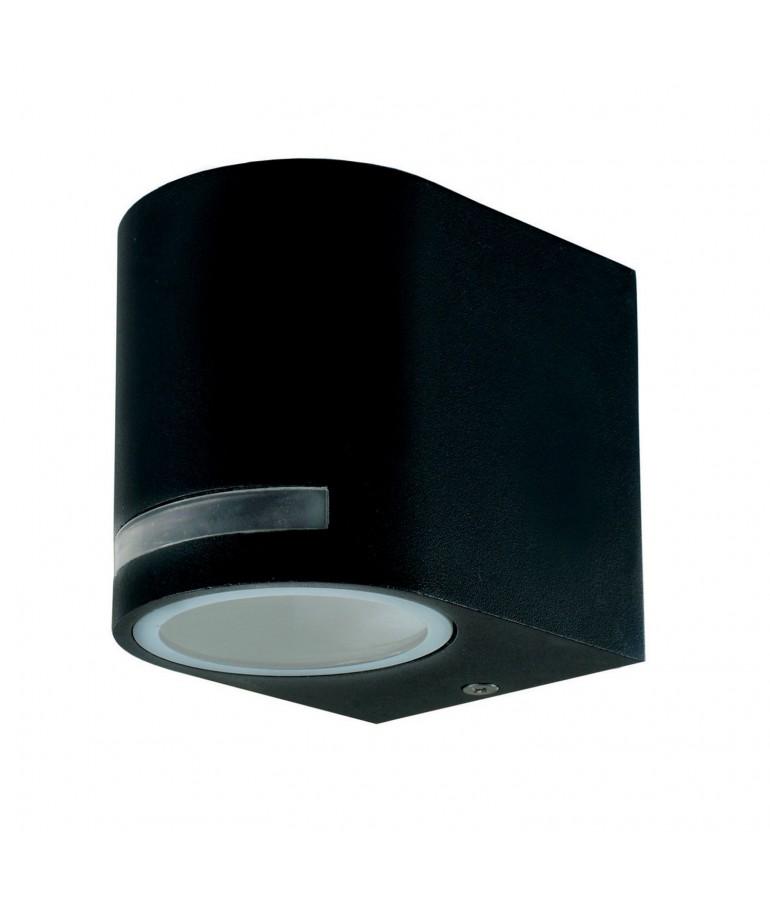 Aplique LED exterior una cara jardín QUAZAR 8 negro
