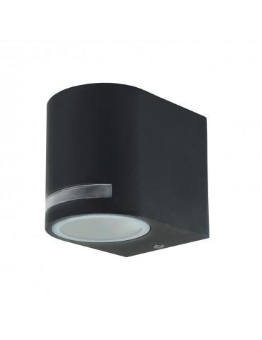 Aplique LED exterior una cara jardín QUAZAR 8 gris