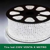 TIRA DE LED AC230V 14,4W/m IP67 160°BLANCA FRÍA SMD5050impermeable