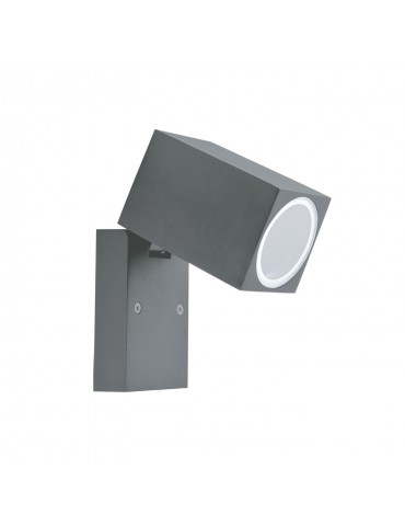 Aplique LED jardín Basculante 90º una cara QUAZAR 15 gris