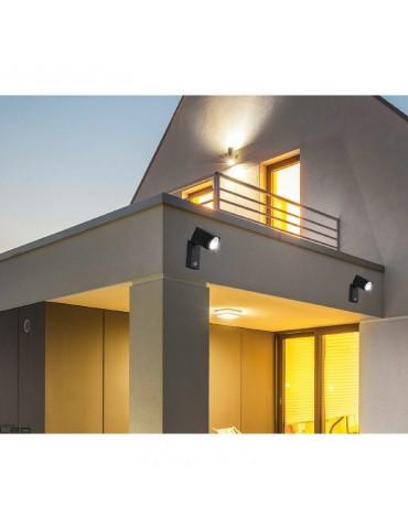 Aplique LED jardín sensor basculante 90º una cara QUAZAR 15 LX