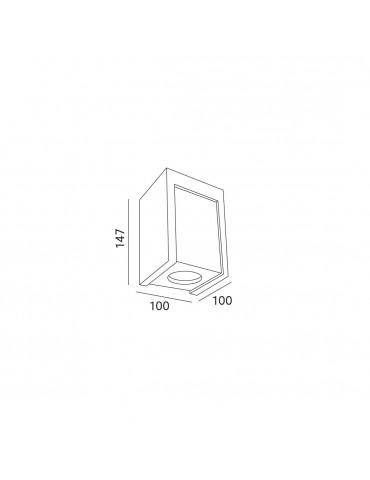 Aplique cuadrado de techo LINDO CHROME dimensiones
