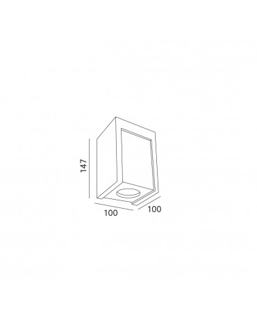 Aplique cuadrado de techo LINDO MASSO C dimensiones