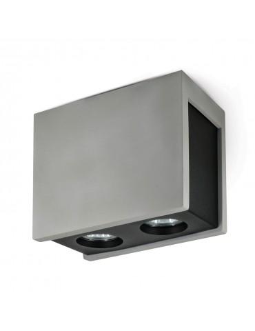 Aplique doble rectangular de techo PURO MASSO N
