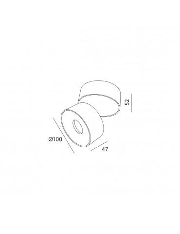 Aplique 10W basculante LAHTI Dimensiones