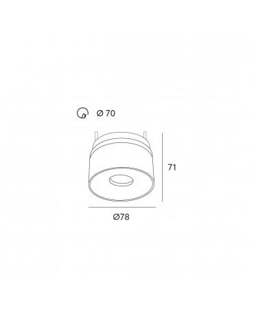 Dimensiones Aplique LED 8W MINI OSLO empotrable basculante Blanco