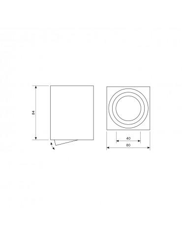 Aplique techo basculante OH37 Blanco