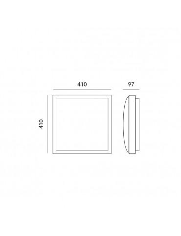 Dimensiones Plafón Samira XL 410x410mm