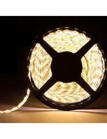 TIRA DE LED DC12V 14,4W IP65 160°BLANCA CÁLIDA 60LEDS SMD5050flexibles adhesivas
