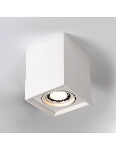 Aplique de techo yeso QUANDO cuadrado 1xGU5.3 detalle