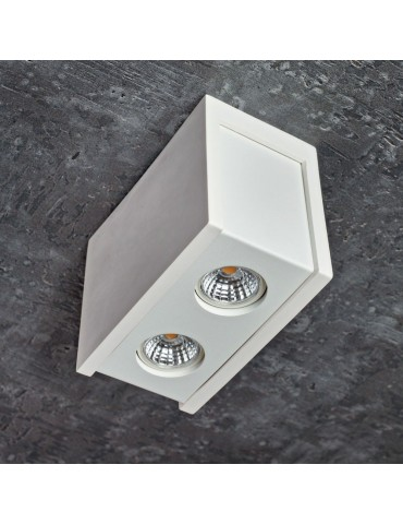 Aplique doble rectangular de techo PURO Blanco foto