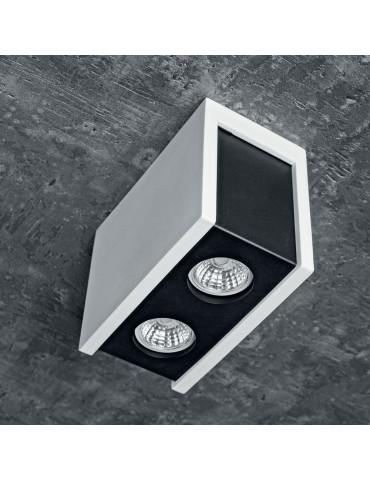 Aplique doble rectangular de techo PURO NERO foto