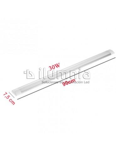 REGLETA LED SLIM 30W 90cm Aluminio+PC dimensiones
