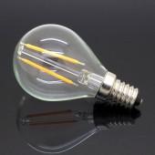 LED VINTAGE filamento Esférica P45 4W E14 CRISTAL
