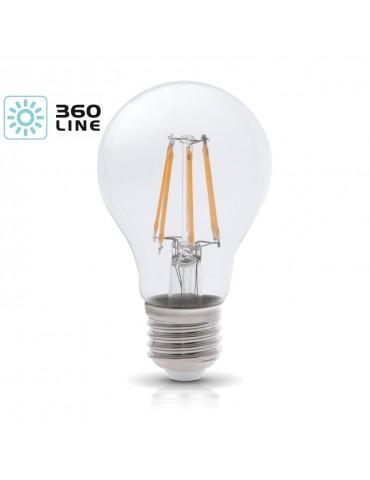 LED VINTAGE RETRO Estándar A60 8W E27 CRISTAL