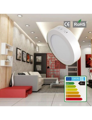 PANEL LED Downlight 6W circular plano de superficie