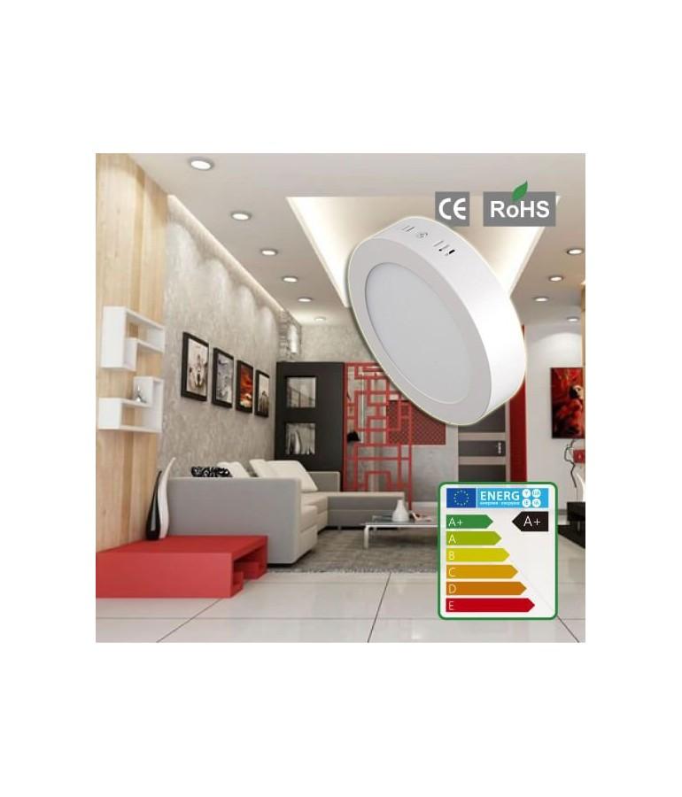 PANEL LED Downlight 6W circular plano de superficie