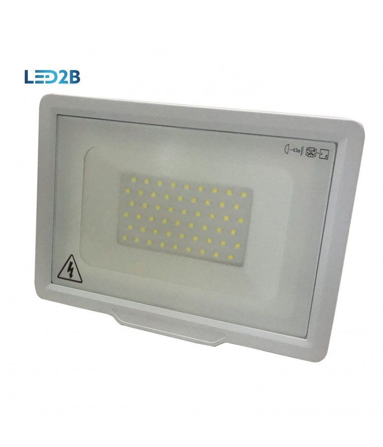 Proyector LED PROFESIONAL BLANCO 50W SMD 120º SLIM