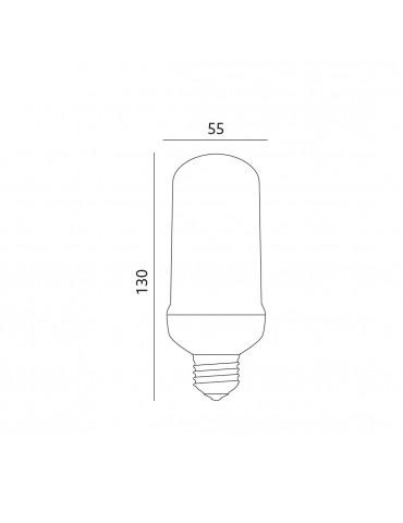 Bombilla LED EFECTO Flama 5W E27 dimensiones