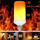 Bombilla LED EFECTO Flama 5W E27 aplicaciones