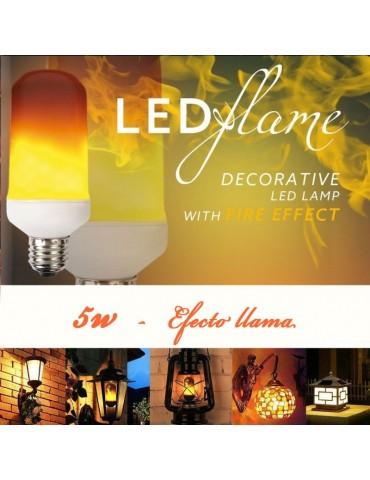 Bombilla LED EFECTO Flama 5W E27 otras aplicaciones
